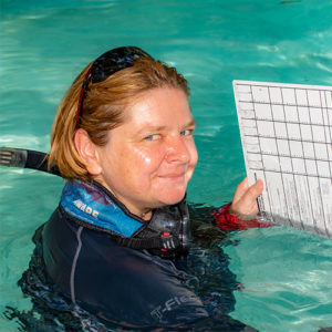 Sabine Henkels PADI Course Director for your IDC